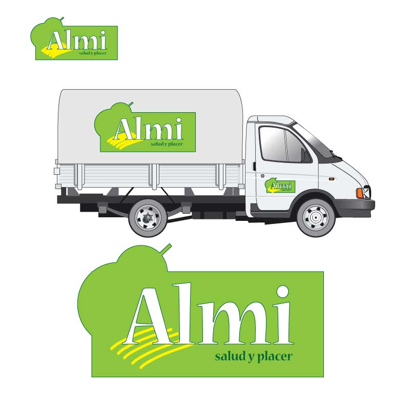 almi fruits logo design