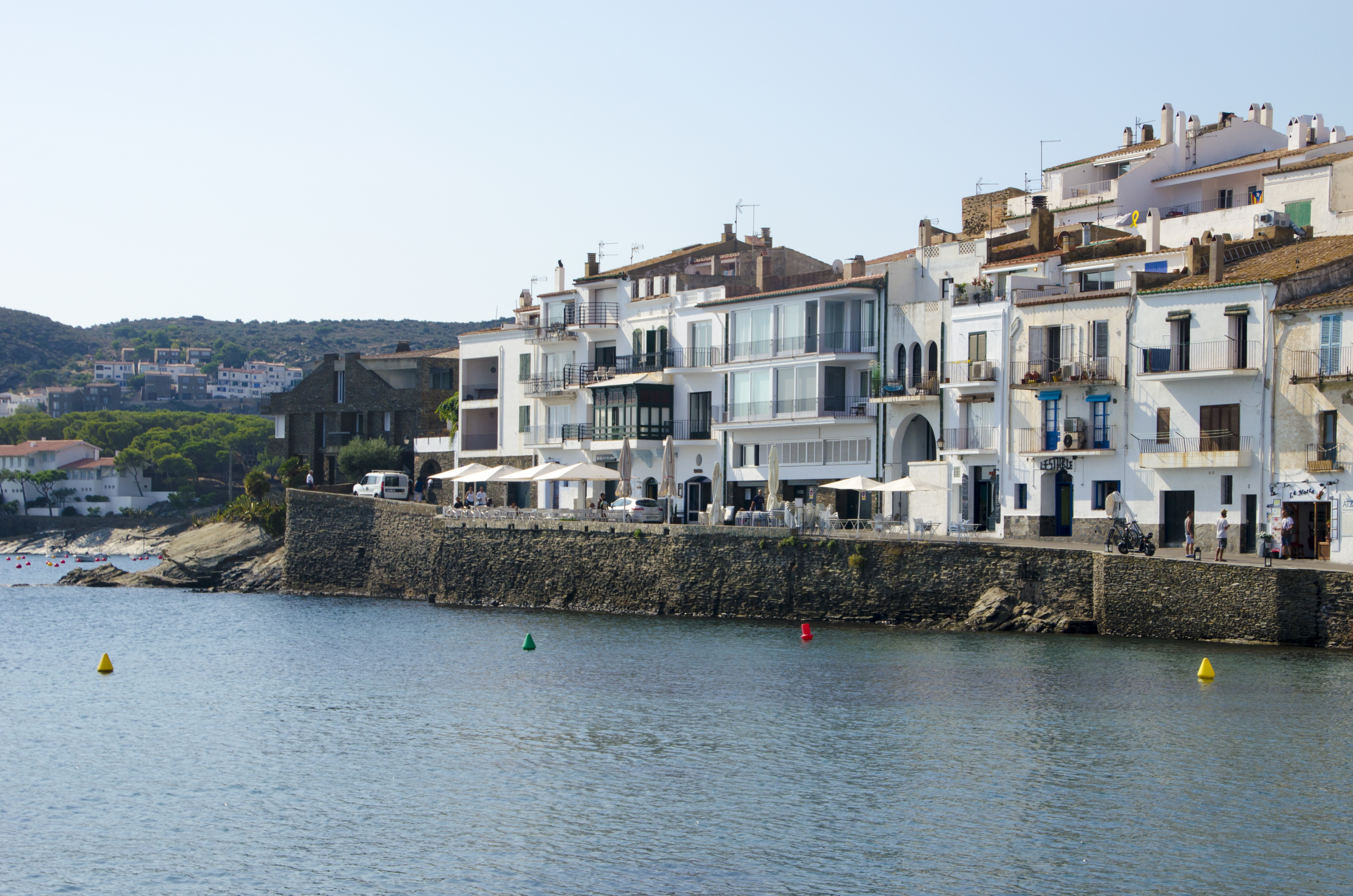 image of cadaques sea , girl and houses around 1